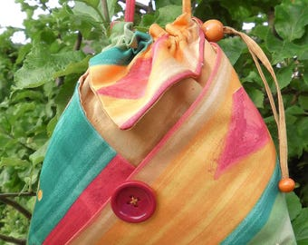 Drawstring Bag, Shoulder Bag, Cosmetic Bag, Multi-purpose Bag,  origami drawstring bag, Bag with Pockets