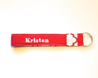 Personalized Keychain Wristlet / Key Fob