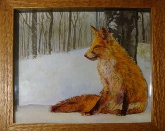 Winter Fire Fox