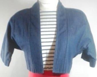 Vintage EJM Petites Denim Dress with Jacket