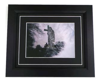 Angel And Cross Original Photography Print Framed Or Unframed