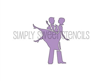 Married Couple Stencil