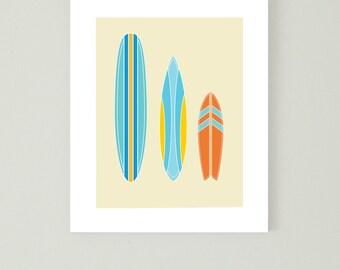 Surfboard digital print, Surf print, 8x10 print, beach wall art, beach print, beach decoration, wall decor, surfboard wall art
