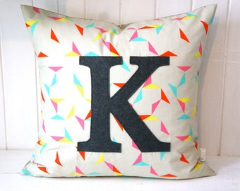 Monogrammed Pillow Cover, 20x20, any letter available