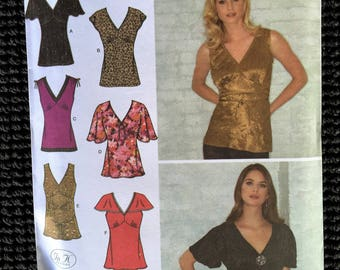 Simplicity 3918 Misses Knit Woven Tops Sewing Pattern Size 6-14 UNCUT
