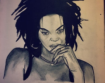 Lauryn hill orignal Ink painting drawing