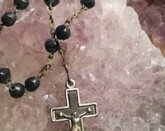 Vintage, rosary, Rosary, Cross, cross, necklace, necklace, K35
