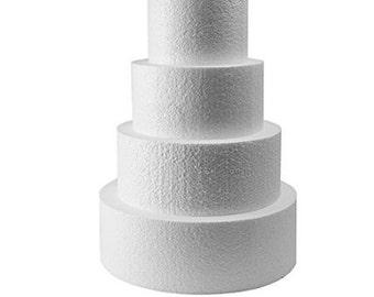 """Foam Dummy cake set  6"""" 8"""" 10"""" 12"""" x4"""""""