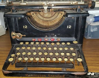 1924 Remington Standard Model 12 Antique Typewriter
