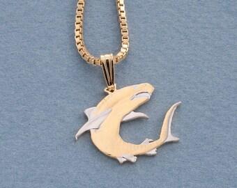 Shark pendant etsy great white shark pendant aloadofball Choice Image