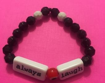 Always believe bead bracelet