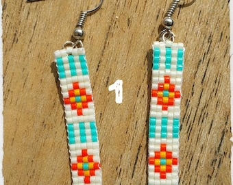 Woven earrings.
