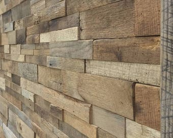 Barn wood wall custom fit with instructions and adhesive free ship