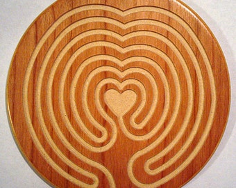 Finger Labyrinth - Heart of Peace Wooden Labyrinth