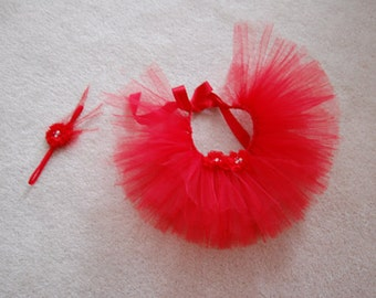 Valentine's Day Little Princess in Red Tutu Set for preemie or newborn