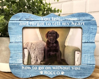 Personalized dog frame, personalized pet frame, memorial frame, remembrance gift, animal lover frame, personalized dog, personalized loss