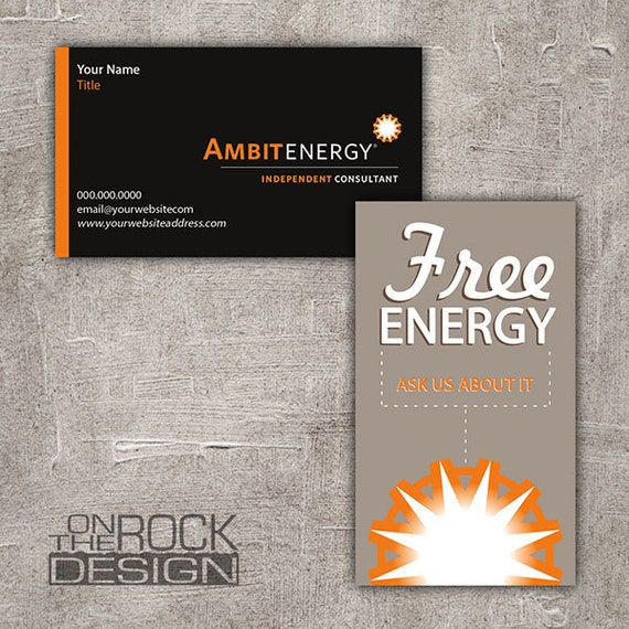 Custom ambit energy business cards digital file or printing custom ambit energy business cards digital file or printing free ups ground shipping bc004 wajeb