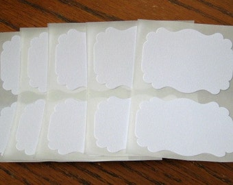 White Blank Labels Stickers Flourish Custom