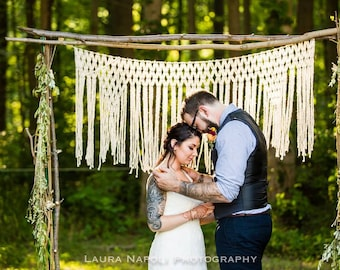 Macrame Altar Hanging for Rustic Wedding Decor Choose Size and Colour Wedding Backdrop Photo Backdrop