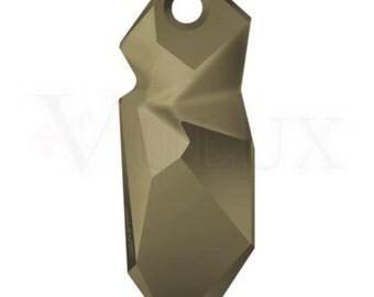 Swarovski 6912 Kaputt Pendant - Metallic Light Gold (MLGLD) 40 mm