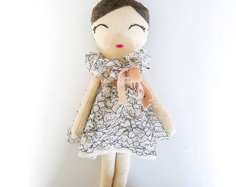 Maisie Cloth Doll in Floral Lace Fairy Outfit