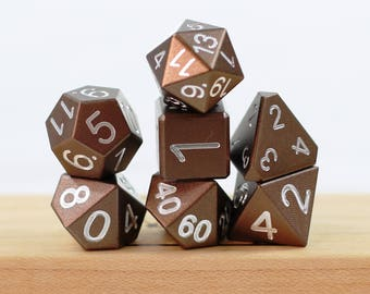 Mini Zucati EleMetal Aluminum Dice - Seattle Coffee Brown