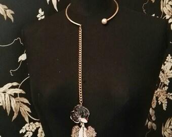 Le Silhouette Line Necklace mod. Perla