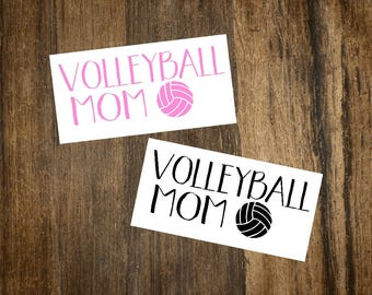 Volleyball Mom Decal | Volleyball Decal | Sports Decal | Car Decal | Laptop Decal | Sports Mom | Planner Accessory | Volleyball Mom Gift