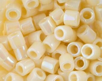 OP Cream Ab Miyuki Delica Seed Bead 8/0 6.8G Tube DBL-0157-TB