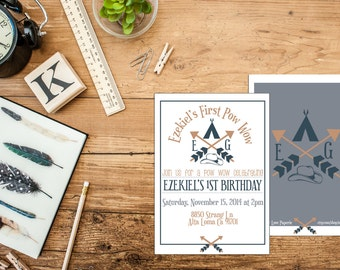 Cowboys (Cowgirls) and Indians Birthday Party Invitation - Digital or Printed