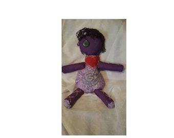 VOODOO doll/ POPPET, Maiden, Spring, Goddess Spiral, Life, Spirituality, Feminine
