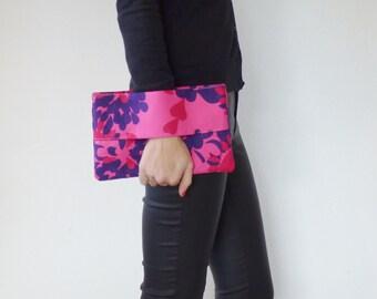 Wrist wallet pink and blue, clutch, wallet purse, hand strap clutch, wallet, wallet clutch, hearts, love, clutch bag, pouch bag, purse,
