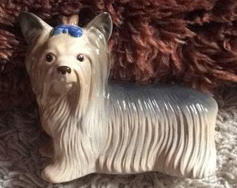 Cute Vintage Melba Ware Yorkshire Terrier Dog Figurine Ornament