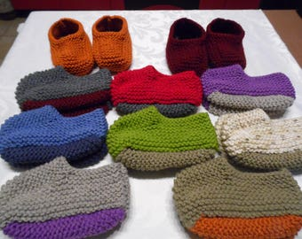 Booties Canadian adult colors to choose sizes 38 to 39