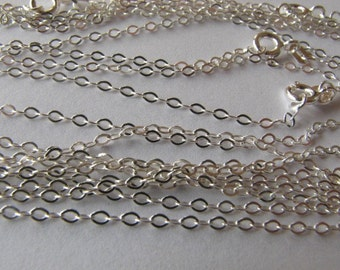 50 Sterling Silver 16.5 inch Cable Link Chains
