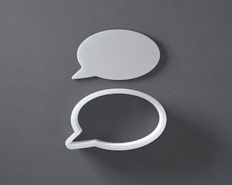 Speech bubble cookie cutter, fondant cutter, cheese cutter, 3D printed