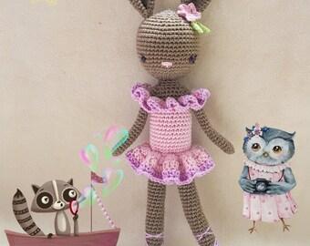 Ballerina Bunny Charlotte II - Easter Bunny - Chrochet doll - Amigurumi Toy