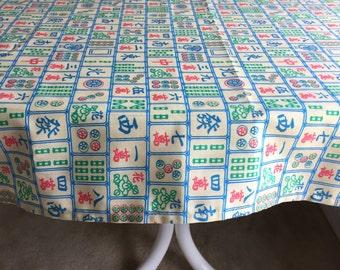 Mah Jongg Tablecloth,  Mah Jong gift,  Mahjong, Mah Jongg Table Cloth, Mah Jongg Gift, Mah Jongg Game,  Table Cover, Mah Jongg Accessories,