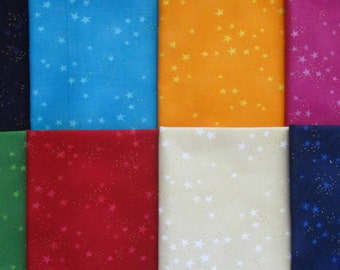 8 yards Basic Stars Laurel Burch from Clothworks cotton quilt fabric - Free shipping U.S.