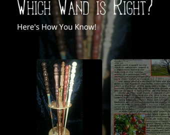 MAGIC WAND Selection FAIRY School, Instant Download Page, Grimoire, An Leabhar, Book of Secrets, Glamerie, BoS