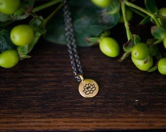 lotus . a soul mantra necklace