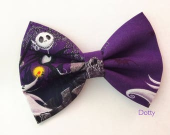 New... Disney Nightmare before Christmas hairbow , hair clip