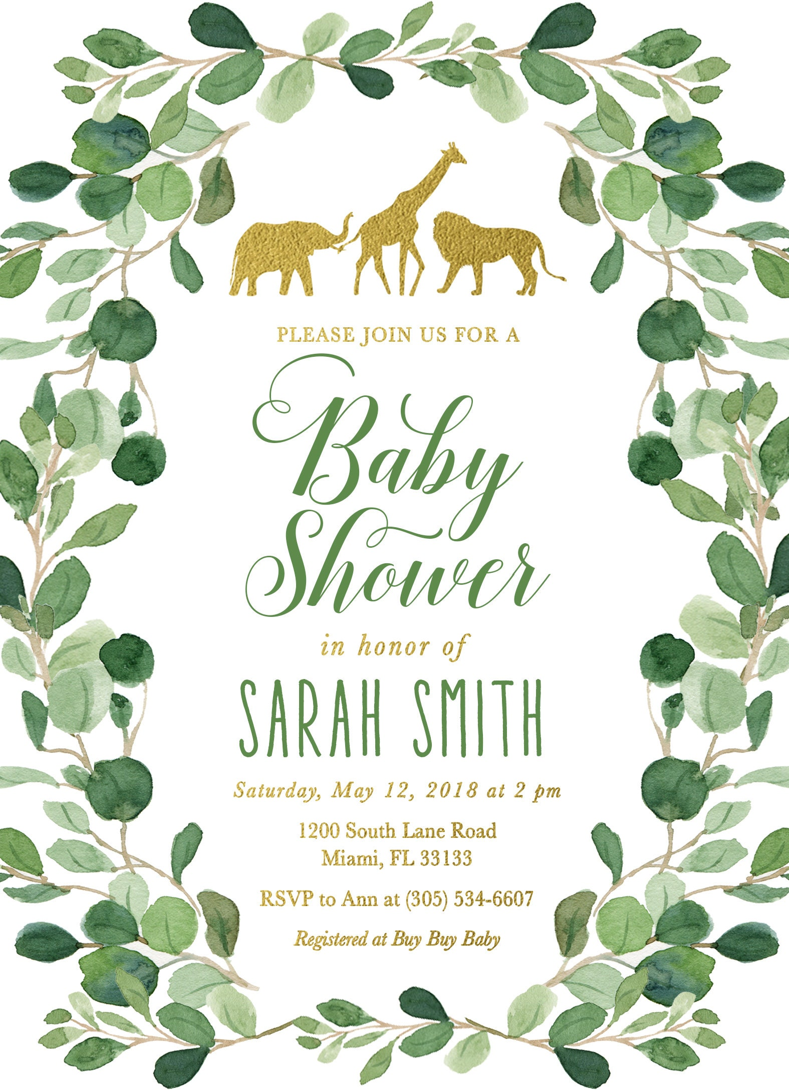 envelopes shower large invitations decorations dp zoo foam invitation safari elephant neutral tall baby for amazon jungle com animal animals