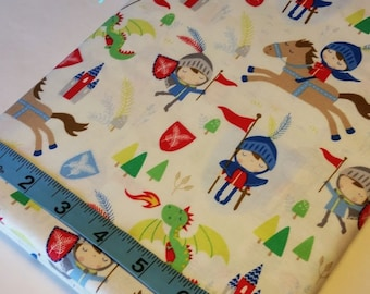 Knights and Horses, Timeless Treasures,100% Cotton Fabric, Quilt Fabric, Apparel Fabric, Home Decor, Boy, Toddler Fabric, Crafts, Half Yard