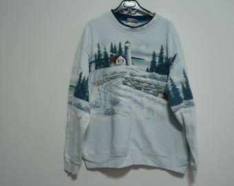 Vintage 90s Morning Sun sweatshirt overprint size. XL