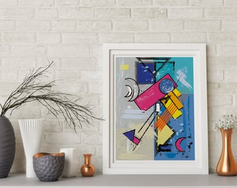Abstract multicolor art Printable