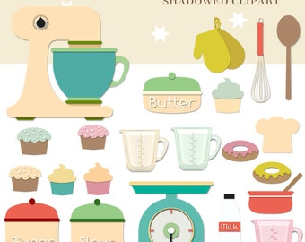 Cooking Clipart, Kitchen Clipart, Food clipart, Instant download
