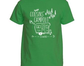 Cousins' Campout T-shirt Mens' PLUS Sz