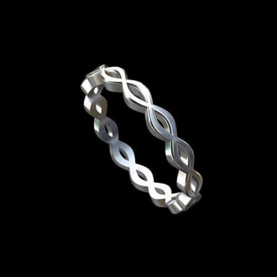 Infinity Platinum: Infinity Wedding Band Twisted Wedding Band Eternity