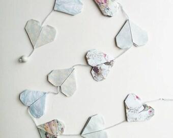 Origami Heart Wall / Door Hanging / Accessory / Garland